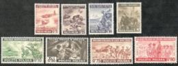 Poland,  Scott 2017 # 3K9-3K16,  Issued 1943,  Set Of 8,  MNH,  Cat $ 22.50,  WW II - 1939-44: World War Two