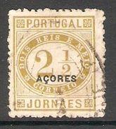 005575 Azores 1882 Newspaper 2 1/2 Reis FU Perf 11.5 - Azores