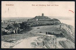 A7011 - Alte Ansichtskarte - Graudenz Grudziądz - Blick Auf Schlossberg - Gel 1914 - Westpreussen