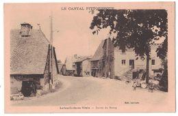 LAFEUILLADE EN VEZIE (Cantal 15) - L'ENTRÉE DU BOURG VILLAGE AVEC ANIMATION CHIEN MAISON POMPE SERVICE ENFANT - France