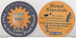 SOUS BOCK / RICARD / Proef De Provence. Proef Ricard (voir Scan Recto-verso) - Bierviltjes