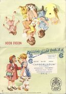 "ABRASIVOS DAVID LACK.S. -""CARBORUNDUM (A LA CABEZA)  WITTEKIND-""SKILL"" EN 2 VOLETS - NEEDLE BOOK - Advertising"