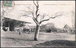 76 . GRANDCOURT . La Ferme De La Baronnie - Battage Des Grains - Batteuse - Francia
