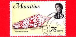 MAURITIUS - Usato - 1969 - Animali Marini - Conchiglie - Molluschi - Cone (Conus Clytospira) - 75 - Mauritius (1968-...)