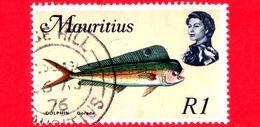 MAURITIUS - Usato - 1969 - Animali Marini - Pesci - Common Dolphinfish (Coryphaena Hippurus) - R 1 - Mauritius (1968-...)