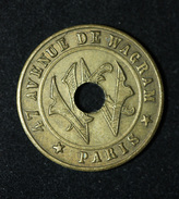"""Jeton D'audition """"Kermesse Wagram / 47, Avenue De Wagram - Paris"""" Monnaie Nécessité - French Emergency Token - Monetari / Di Necessità"""