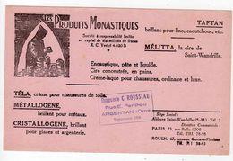 Sept17  79317    Buvard   Produit Monastique - Carte Assorbenti