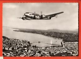 EVA-18  Languedoc SE 161 De Marcel Bloch Survolant Genève. Cachet Fêtes De Genève 1952 Grand Format - 1946-....: Moderne