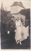 Fotokaart Carte Photo Thulin Mariage Trouw Soldaat Militair 1922 (Emile Lépine Thulin ) - Hensies