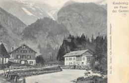 Kandersteg Am Fusse Der Gemmi. - Tampon Grand Hôtel Pension Victoria - Carte Dos Simple - BE Berne