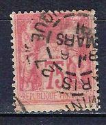 "FR YT 81 "" Sage 75c. Rose "" CAD Paris 1891 - 1876-1898 Sage (Type II)"