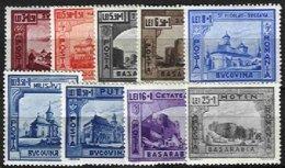 RUMANIA, Semi-Postals, Yv 661/9, * MLH, F/VF, Cat. € 9,00 - 1918-1948 Ferdinand I., Charles II & Michel