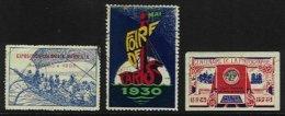 FRANCE, Cinderellas, */o M/U, F/VF - Commemorative Labels