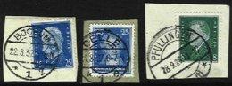 GERMANY, Reich, Yv 385, 403, 407: Mi 393, 412, 416, Used, F/VF - Germany