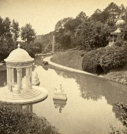 Italie Pegli Genes Villa Durazzo-Pallavicini Ancienne Stereo Photo Degoix 1865 - Stereoscopic