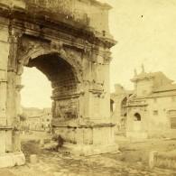Italie Rome Arc De Titus Ancienne Stereo Photo 1865 - Stereoscoop