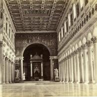 Italie Rome Palais Du Vatican Interieur Ancienne Stereo Photo 1865 - Stereoscopic