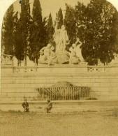 Italie Rome Piazza Del Popolo Fontaine De Romulus Ancienne Stereo Photo 1865 - Stereoscoop