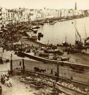 Italie Naples Panorama Marina Carmine Ancienne Stereo Photo Sommer 1865 - Stereoscoop