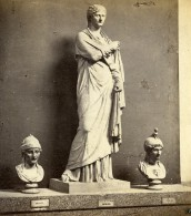 Italie Naples Musée Statue Femme Herculaneum Balbus? Ancienne Stereo Photo 1865 - Stereoscopic