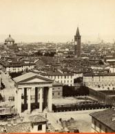 Italie Milan Panorama Vue Generale Ancienne Stereo Photo Brogi 1865 - Stereoscopic