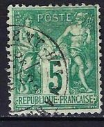 """FR YT 64 """" Sage 5c. Vert """" CAD - 1876-1878 Sage (Type I)"""
