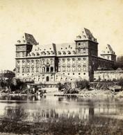 Italie Turin Château De Valentino Riviere Po Ancienne Stereo Photo Brogi 1865 - Stereoscopic