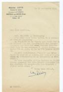 Lettre 1957  - Maurice LOTTE - Huissier De Justice - Breteuil Sur Noye -(Oise) - Oude Documenten