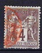 "FR YT 88 "" Sage 4c. Lilas-brun "" CAD Rouge Des Imprimés - 1876-1898 Sage (Type II)"