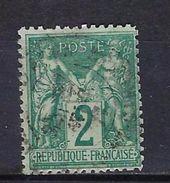 "FR YT 74 "" Sage 2c. Vert "" CAD - 1876-1898 Sage (Type II)"
