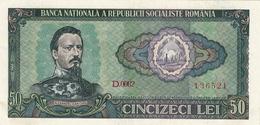 * ROMANIA 50 LEI 1966 P-96 UNC [RO096] - Romania