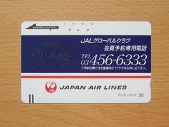 Japon Japan Free Front Bar, Balken Phonecard - 110-4792 / JAL - Avions