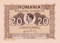 * ROMANIA 20 LEI 1945 P-76 AU/UNC [RO076] - Romania