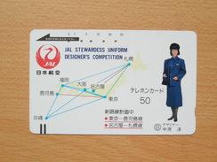 Japon Japan Free Front Bar, Balken Phonecard - 110-4797 / JAL - Avions