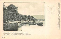 CORFOU  *  KEPKYPA -  Vue Du Village D'Ypsos   ( Entier Postal  10 Rouge Au Verso ) -N° 195 - Grèce