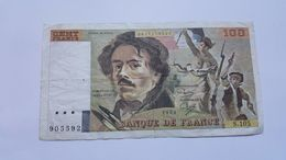 FRANCIA 100 FRANCHI 1986 - 100 F 1978-1995 ''Delacroix''
