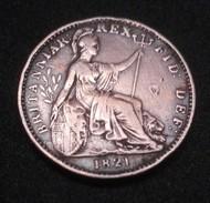Great Britain, 1821 GEORGIUS IIII-DEI GRATIA . - 1816-1901 : Frappes XIX° S.