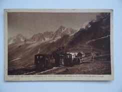 74 COL De VOZA Animée Chemin De Fer Du Mont-Blanc Station Bellevue - Chamonix-Mont-Blanc