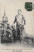 CPA Cambodge Asie Ethnic Ethnique Roi SISOVATH Circulé - Cambodge