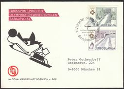 Yugoslavia Sarajevo 1984 / Olympic Games Sarajevo / Opening Ceremony Stadium Kosevo / Ski Jumping, Bobsleigh - Hiver 1984: Sarajevo