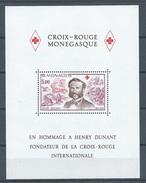 Monaco Bloc-feuillet YT N°15 Croix-Rouge Monégasque Henri Dunant Neuf ** - Blocks & Sheetlets