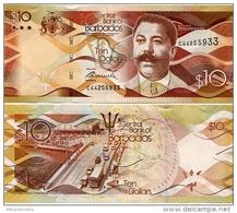 BARBADOS       10 Dollars       P-75        2.5.2013        UNC - Barbados