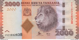 TANZANIA 2000 SHILLINGS ND (2015) P-42b UNC SIGN. UNKNOWN & NDULU [TZ141b] - Tanzanie