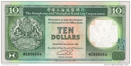 HONG KONG 10 DOLLARS 1989 P-191c UNC  [ HK191c ] - Hong Kong