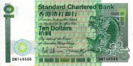 HONG KONG 10 DOLLARS 1989 P-278b UNC  [ HK401e ] - Hong Kong