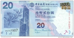 HONG KONG 20 DOLLARS 2010 (2012) P-341 UNC  [ HK816a ] - Hongkong