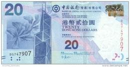 Hong Kong (BOC) 20 Dollars 2010 (2012) UNC Cat No. P-341a / HK816a - Hong Kong