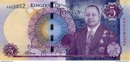 TONGA 5 PA'ANGA ND (2015) P-45 UNC  [TO220a] - Tonga