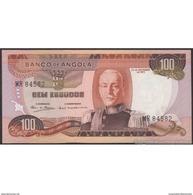 TWN - ANGOLA 101 - 100 Escudos 24.11.1972 Prefix MR AU/UNC - Angola