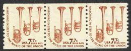 United States - Scott #1614 Used - Strip Of 3 - Francobolli In Bobina